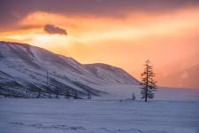 Морозный закат. Фото: Эдуард Кутыгин