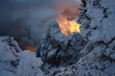 Пламя над Ай-Петри. Фото: Алексей Харитонов