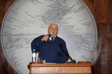 Владислав Корякин в Штаб-квартире РГО в Санкт-Петербурге. Фото: Татьяна Николаева