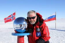 Валдис Пельш на Южном полюсе. Фото: wikipedia.org