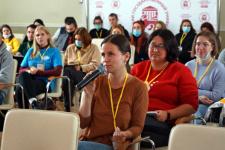 Молодёжный форум РГО - уникальная возможность поделиться опытом и пообщаться с экспертами. Фото: пресс-служба Псковского госуниверситета