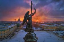 Зимний вечер в Петербурге. Фото: Александр Петросян