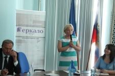Председатель отделения Светлана Соткина выступает на старте проекта ''Открой Дзержинск заново''