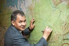 Президент Русского географического общества Сергей Кужугетович Шойгу