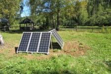 Солнечные генераторы на кордоне Белорецк. Фото: В.В.Вервейн