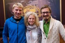 Participants of the School of Environmental Journalism with eko-coach Roman Sablin