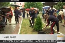 В высадке аллеи РГО принял участие председатель ЗСК Юрий Бурлачко