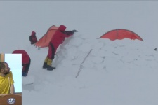 """21.05.18. """"Зимний снежный барс"""": первопроход на пик Корженевской"""