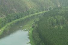 Скала Ласынташ. Река Ай