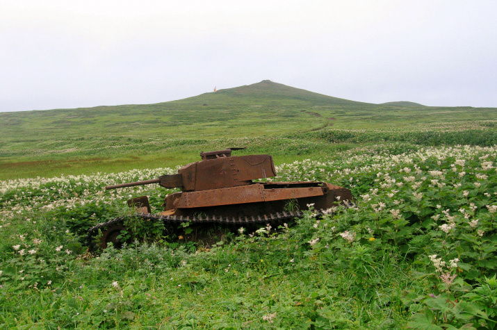 Vestiges of World War II combats