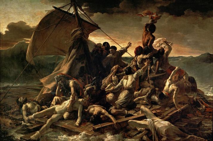 """Теодор Жерико.""""Плот """"Медузы"""".Холст, масло. 491 × 716 см.1819 год. Лувр, Париж."""