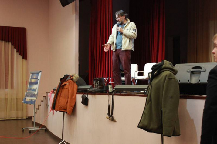 Творческая встреча с путешественником и фотографом Афанасием Маковневым. Фото предоставлено Владимирским областным отделением РГО