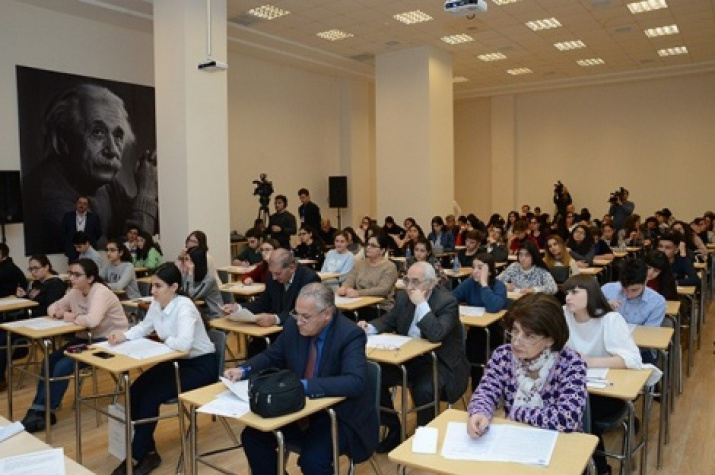 Geographic dictation-2017. Photos from the website of the branch of Lomonosov Moscow State University in Baku