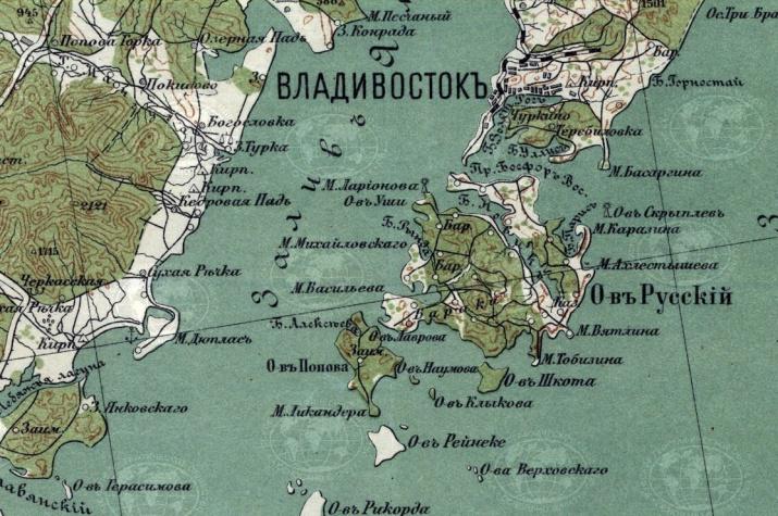 Лист карты восточной части Азиатской России