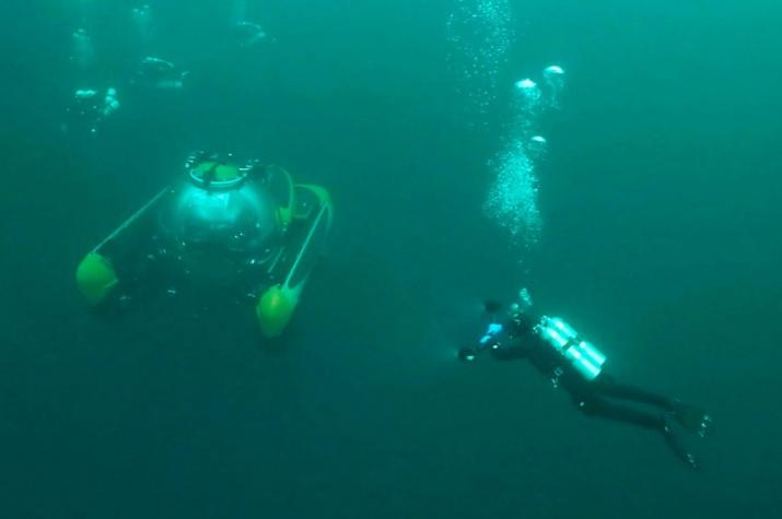 Обитаемый подводный аппарат. Фото предоставлено ЦПИ РГО