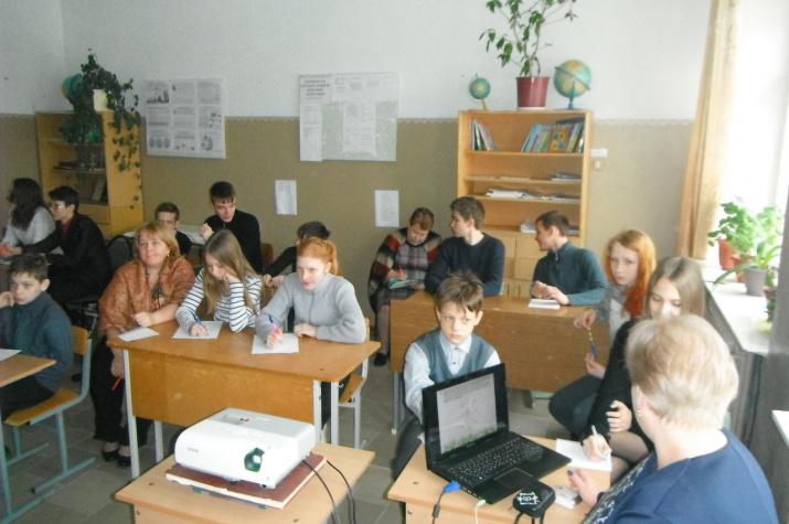 Весенний географический диктант в Моготовской школе
