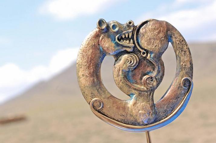 """Артефакт, найденный в археолого-географической экспедиции """"Кызыл - Курагино"""""""
