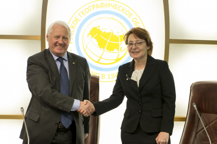Николай Касимов и Ирина Булгакова. Фото: пресс-служба РГО