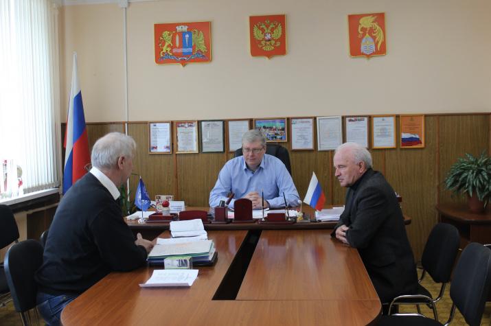 Встреча у Главы Южского муниципального района.