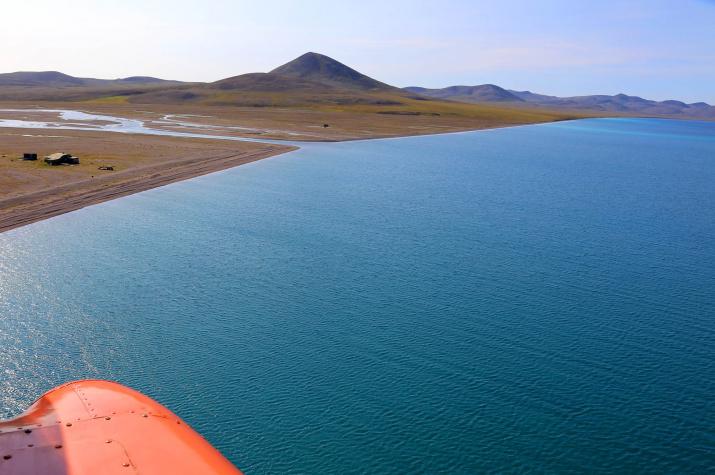 Озеро Эльгыгытгын и истоки реки Энмываам. Фото: Владимир Сертун
