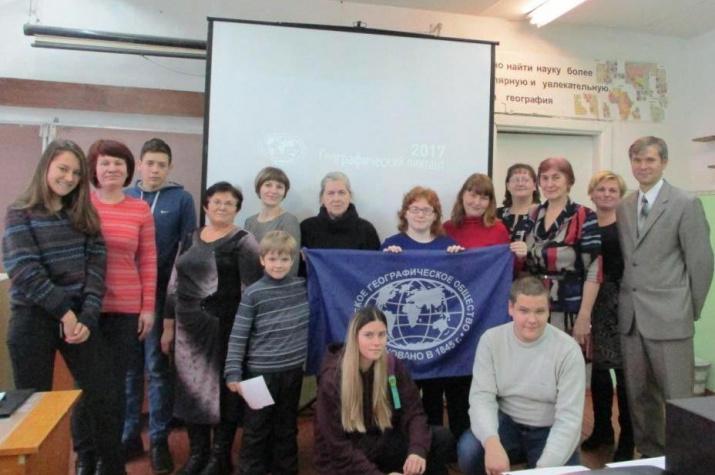 Организаторы и участники Диктанта в п. Юрино. Фото О.В. Малюта