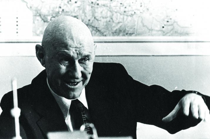А.С. Хоментовский – заведующий кафедрой инженерной геологии и геодезии ОрПтИ (1978 г.)