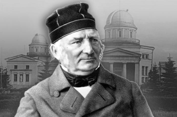 Astronomer Vasily Struve. A photo collage