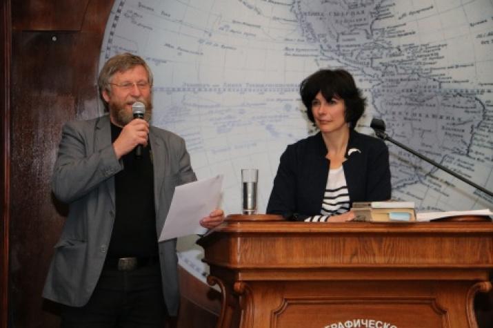 Chairman of the Polar Commission Victor Boyarsky is presenting Maria Gavrilo's mission. Photo by: Tatiana Nikolaeva