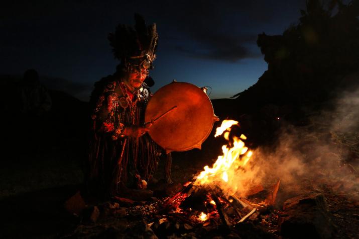 """Shamanistic Ritual"". Photo: Mark Podrabinek"