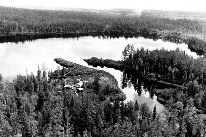 Предполагаемое место в тайге в районе реки Подкаменная Тунгуска, куда в 1908 году упало огненное тело, названное Тунгусским метеоритом