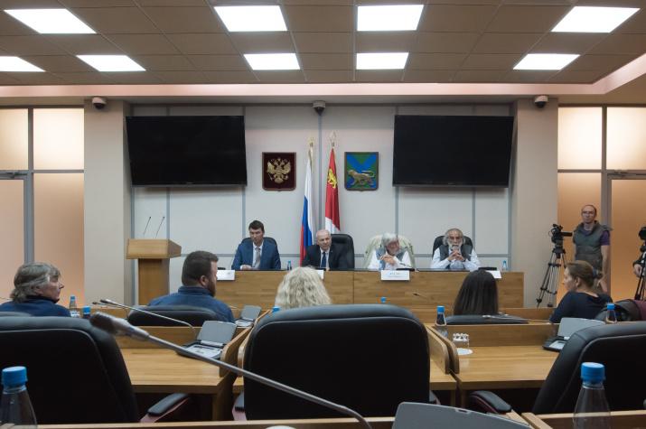 Пресс-конференция с Жан-Мишелем Кусто. Фото: А.В. Кондратюк
