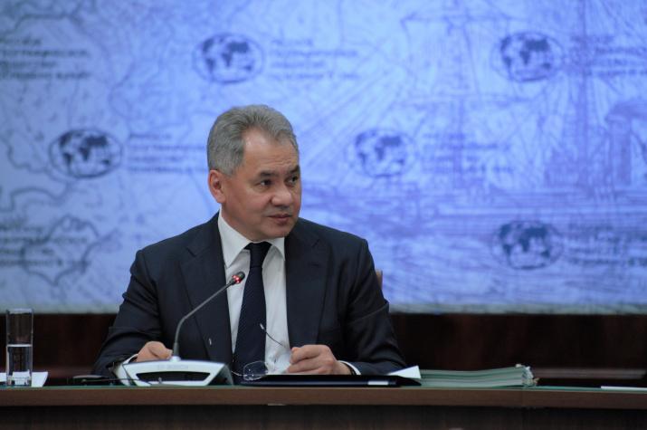 Президент Русского географического общества Сергей Шойгу. Фото: Алексей Михайлов