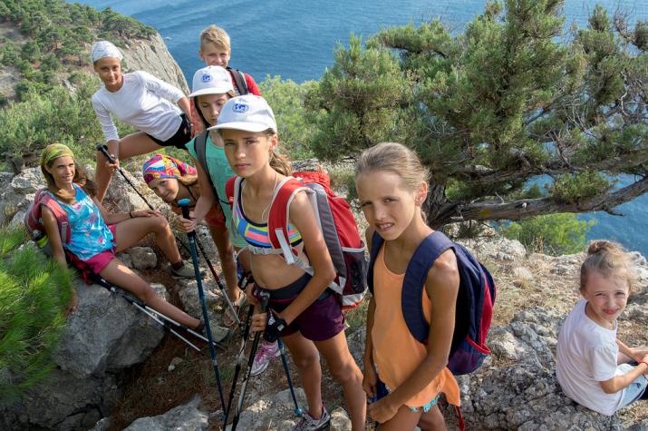 Команда юных участников экспедиции