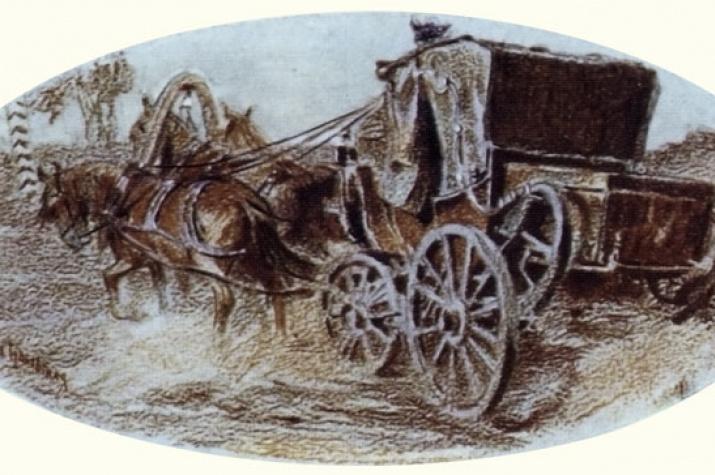 Илл. Е. Самокиш-Судковский. Путешествие Онегина, 1908 г.