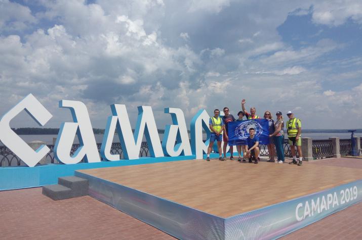 Самарское РГО встретило участников велоэкспедиции «Дети мира»