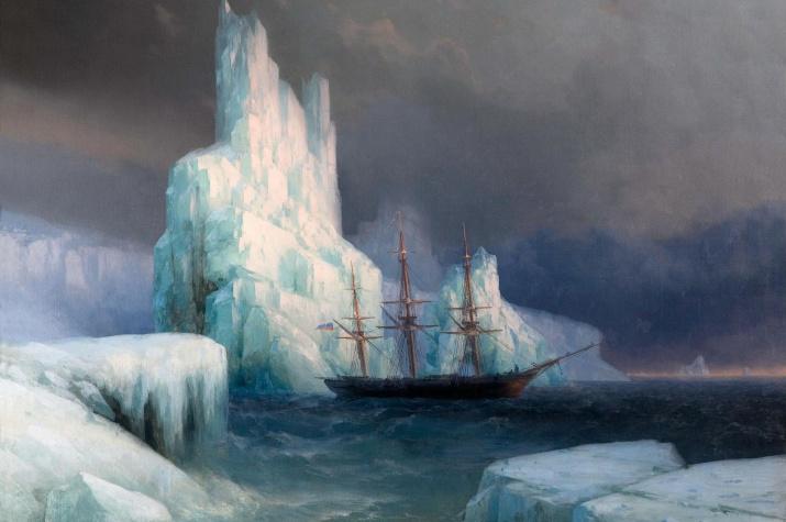 Ледяные горы в Антарктиде. Художник Иван Айвазовский