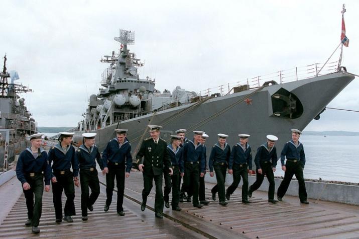 Моряки Каспийской флотилии