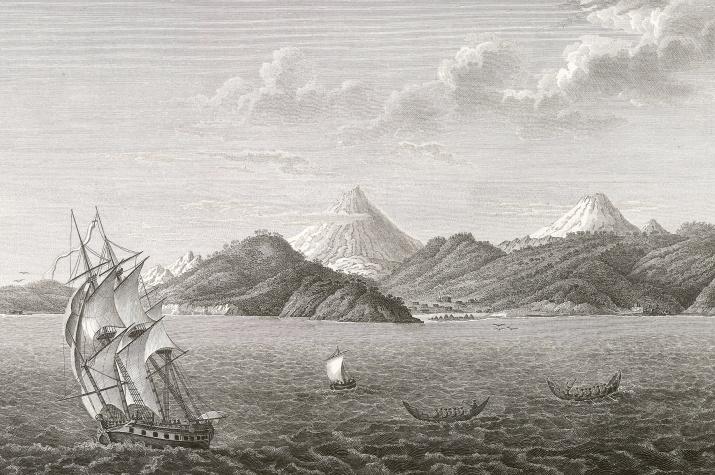 """Иллюстрация из книги """"Атлас к путешествию вокруг света капитана Крузенштерна"""". Научная библиотека РГО"""