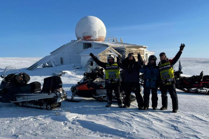 "Участники экспедиции ""Легенды Арктики-2021"" на острове Преображения."