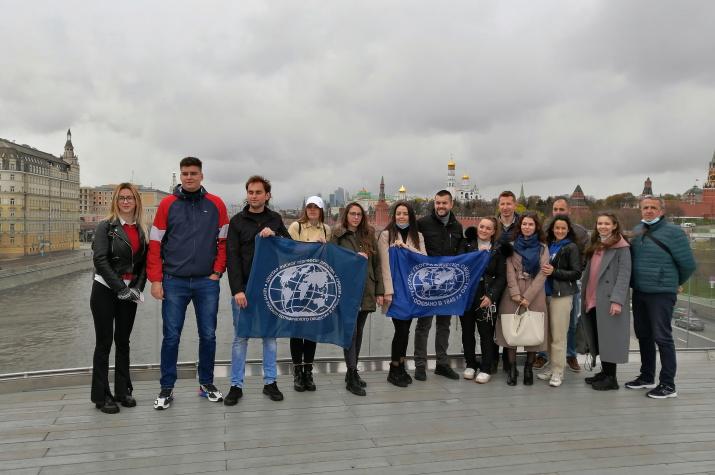 Участники сербской делегации в г. Москва. Фото предоставлено Смоленским региональным отделением