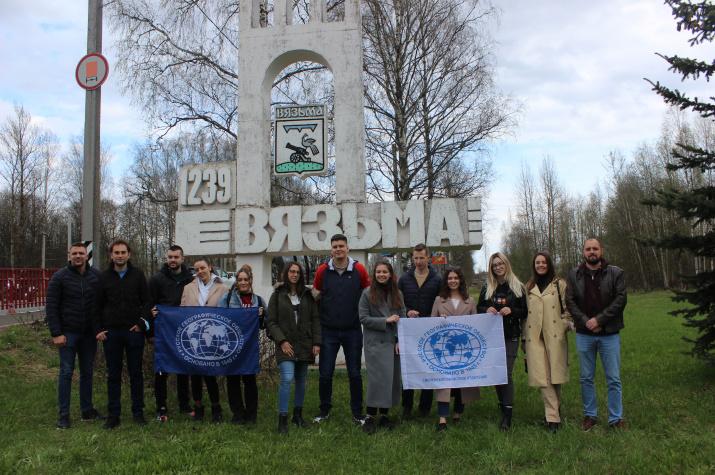 Участники сербской делегации приехали в Вязьму. Фото предоставлено Смоленским региональным отделением