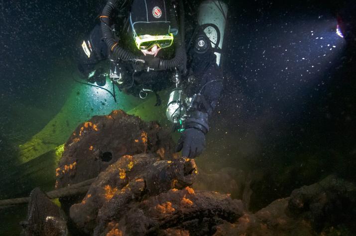 """Финский залив, глубина 50 метров. Фото:""""Разведывательно-водолазная команда"""""""