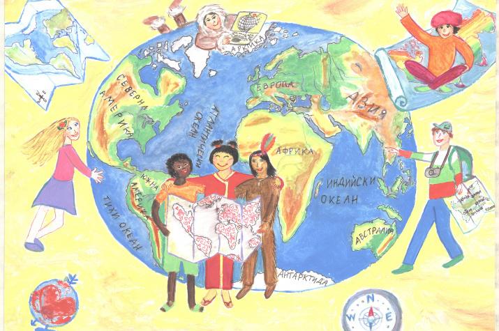 Работа участника конкурса Barbara Petchenik Children's World Map Drawing Competition