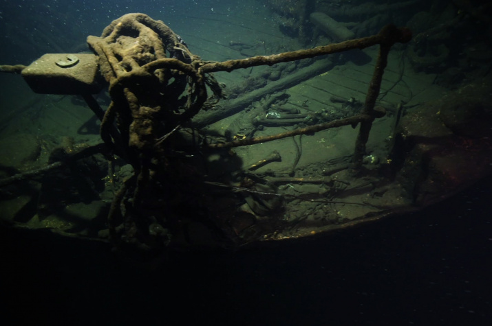 """Страшные находки на глубине 96 метров. Фото: """"Разведывательно-водолазная команда"""""""