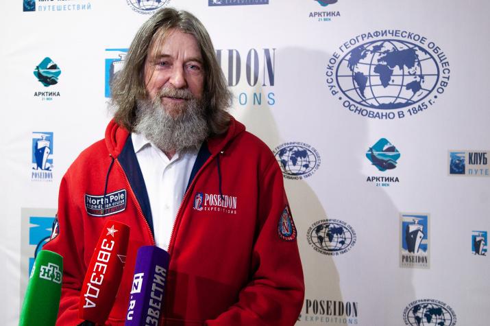 По словам Федора Конюхова, он согласен жить на Северном полюсе. Фото: пресс-служба РГО/Анна Юргенсон