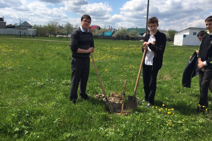 Учащиеся МБОУ СОШ 6 в будущем фруктовом саду