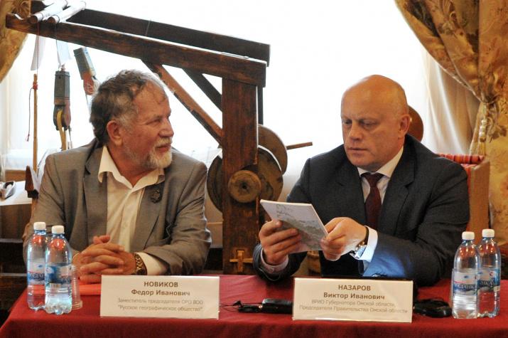 Виктор Назаров с участниками экспедиции Омского отделения РГО