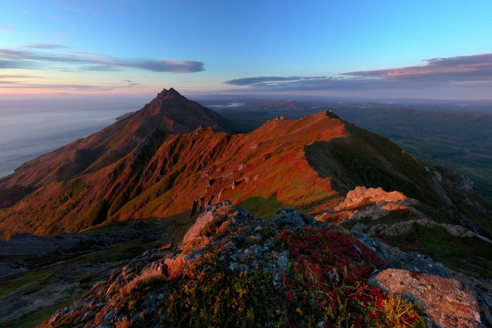 Zhdanko Ridge on Sakhalin Island
