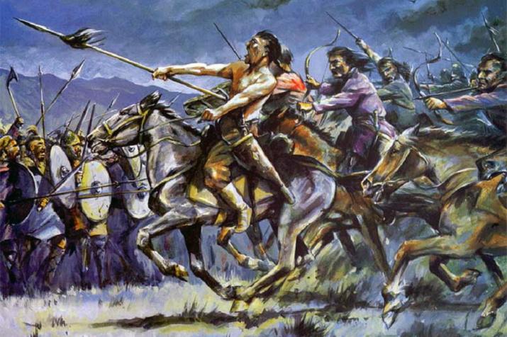 Гуннская кавалерия в атаке. Сайт: warspot.ru
