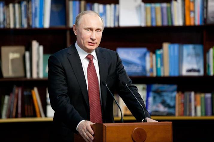 Председатель Попечительского Совета РГО Владимир Путин. Фото: Ярослав Никитин